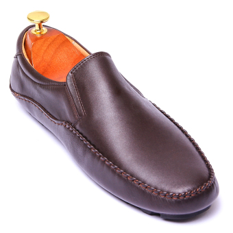 Giày lười nam da thật Da Giày Việt Nam VNL6LZD79-1N (Nâu)