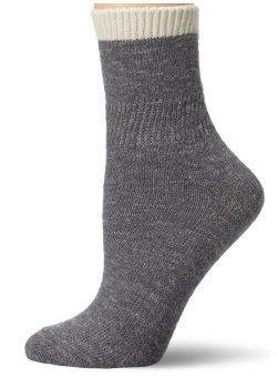 Vớ len nữ Jones New York Women's Wool-Blend Gripper Home Sock (Xám)
