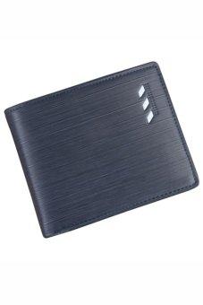 Bluelans Men's Faux Leather Bifold Wallet ID Card Holder Money Purse Horizontal (Intl)