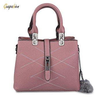 Guapabien Elegant Pom Pom Embellished PU Women Convertible Tote Bag(Pink) - intl