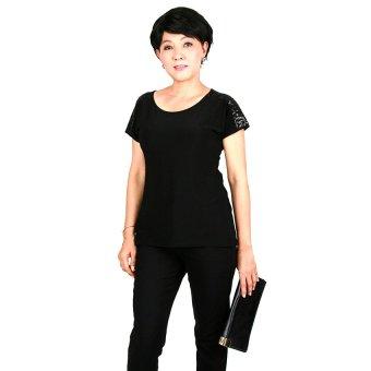 Áo kiểu nữ trung niên Ugether UPAR19 (Đen)