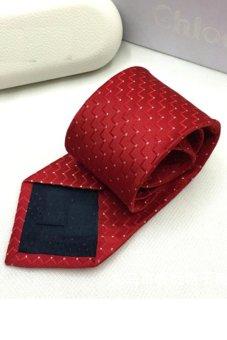 Cà vạt lụa thời trang bản vừa Victoria90 VT6009-7 (Đỏ)
