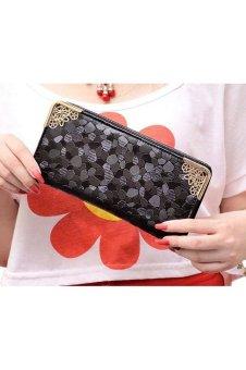 Zip Bag Long Purse (Black)
