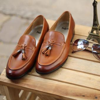 Giày loafer nam cao cấp Kazin màu nâu vàng KZV0022