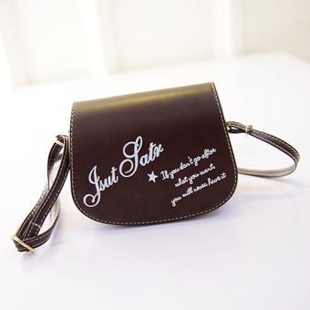 Retro Leather Mini Small Adjustable Shoulder Bag Handbag Letter packet Dark Brown (Intl)
