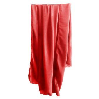 Women Lady Girls Solid Color Beach Scarf Bikini Coverups Sarong Swimsuit Wrap Swimwear Dress Red - intl