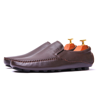 Giày lười nam Da Thật Giày Da Miền Trung VCT6LZD79-1N-3 ( Nâu )