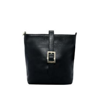 Túi đeo chéo nữ da bò thật cao cấp màu đen