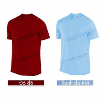 Bộ 2 áo thun LAKA A1117 (Đỏ đô + Xanh da trời)