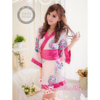 Đầm Ngủ Gợi Cảm Kimono Hồng MS613