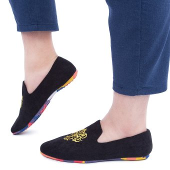 Male Leather Soles Casual Loafers Shoes(Black) - intl