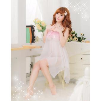 Váy Ngủ Gợi Cảm Giá Rẻ Cánh Tiên MS496 trắng