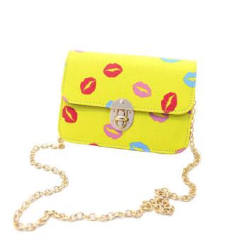 Fashion Women Handbag PU Shoulder Bag Satchel Messenger Bag Hobo Tote Yellow - Intl