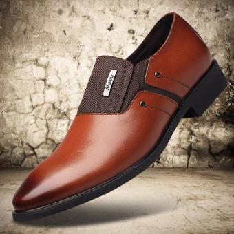 Giày tây nam kiểu dáng sang trọng 601_màu nâu