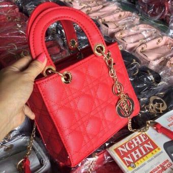 Túi xách da nữ kiểu dáng thanh lịch (Đỏ)