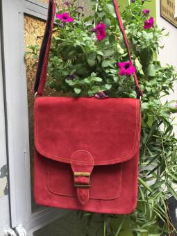 Túi Ipad Lớn (Đỏ)- Da Lộn