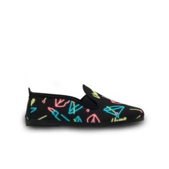 Giày Lười Flossy Vamp (Đen Neon)