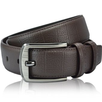 Vintage Classic Metal Buckle Men Casual Leather Waist Strap Belts Brown (Intl)