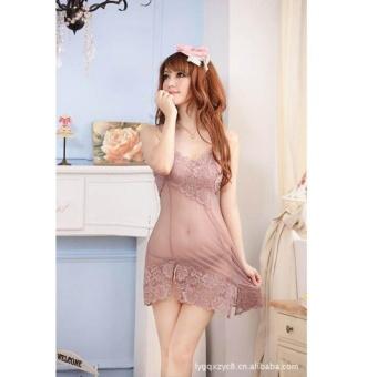 Váy ngủ ren hoa xéo Chodeal24h (xám)