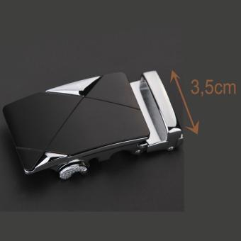 Mặt thắt lưng khóa tự động 3,5cm (Mặt bạc)