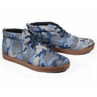 Boots cột dây Tathanium Footwear TFMRT6601 (Xanh họa tiết camo)