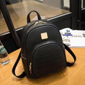 Ba lô da sinh viên phong cách Hàn Quốc Đồ Da Thành Long TLG 208115 (đen)