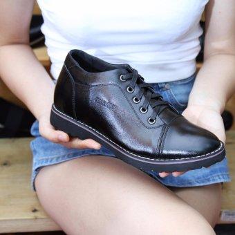 Giày da nam tăng chiều cao SMARTMEN GD2-08 (Đen)