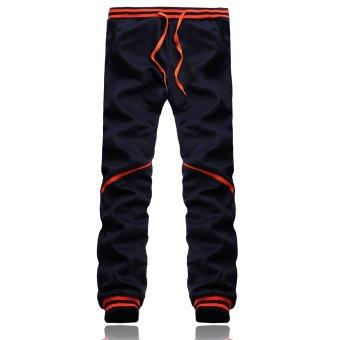 Fashion Men Bottoms Plain Jogger Casual Gym Tracksuit Pant - Intl