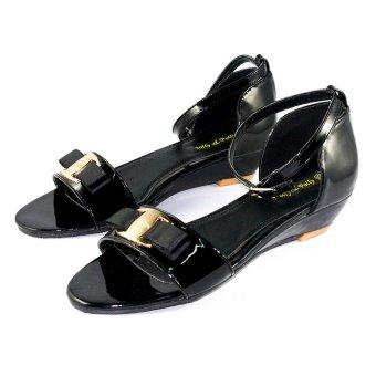 Sandal cao gót Dolly & Polly DL4185 (Đen bóng)