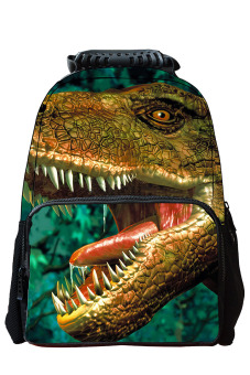 Unisex Adult Teenager 3D Animal Style Multi-purpose Schoolbag Outdoor Travel School Bag Backpack Tablet Laptop Carry Bags Dinosaur