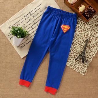Quần áo siêu nhân Super Man 110cm 7Gift Shop (Xanh dương)