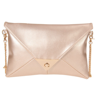 2016new fashion women message bags with chain(champagne) (Intl)