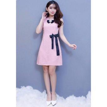 Đầm đính nơ dễ thương ( hồng nhạc)