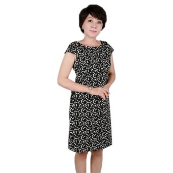 Đầm nữ trung niên Ugether UPAR23 (Đen)