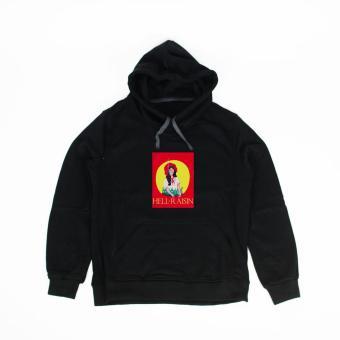 Áo khoác hoodie nữ in hình Hell Raisin (đen)