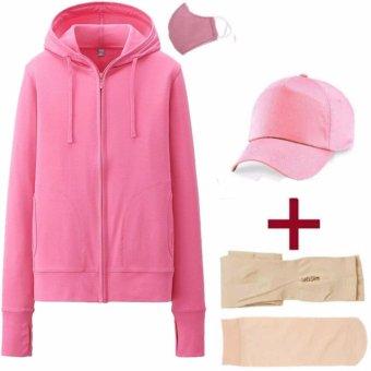 Bộ sản phẩm áo chống nắng nữ kèm khẩu trang + mũ lưỡi trai + tất + găng tay Dma store