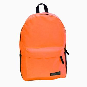 Fashion Simple Women Canvas Backpack Schoolbag Orange