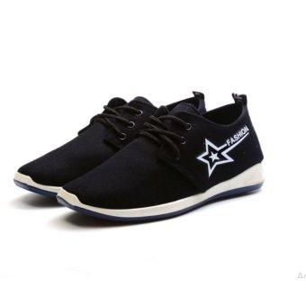 Giày sneaker thời trang nam GASSA - GN004D( Đen)