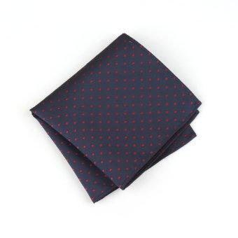 Men Pocket Square Hankerchief Korean Silk Paisley Dot Floral Hanky Wedding Party Style33 (Intl)