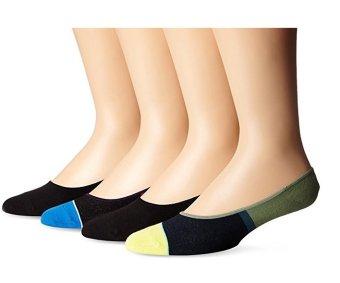 Bộ 4 Đôi Tất Nam K Bell Socks Men's 4-Pack Block Liner Socks (Mỹ)