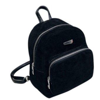 Backpack Women Fashion Backpack Rucksack Girls School Book Shoulder Bag Black - intl