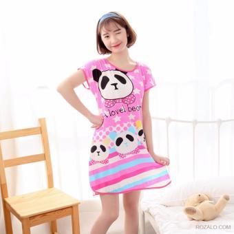 Váy ngủ hoạt hình ngộ nghĩnh ROZALO RWV62201GH-Gấu Hồng