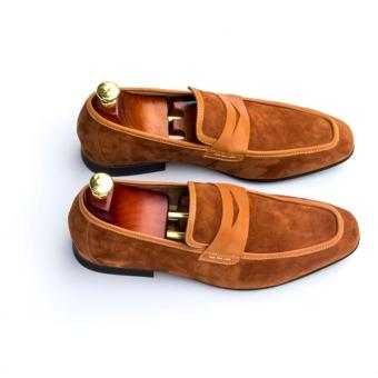 Giày Lười Da Lộn Babiday