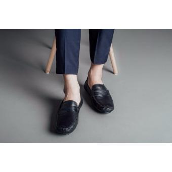 Giày lười nam Laforce đai da phối màu GNLA268-BL1-D