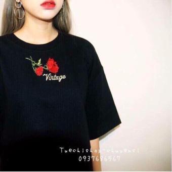 Áo Thun Nữ tay lỡ thời trang LyLyFashion (đen)
