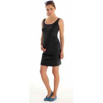 MEV Đầm bầu ngắn thun không tay Mothers En Vogue - Essential Maternity Tank - M - Black