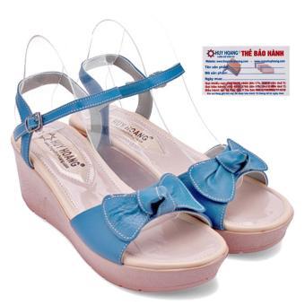 HL7041 - Giày nữ Huy Hoàng đế xuồng màu xanh