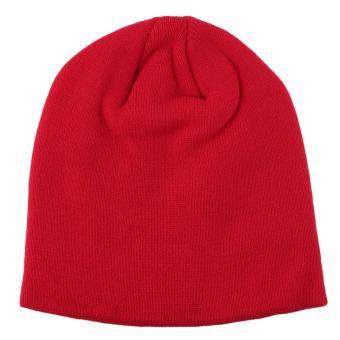 OH Fashion Soft Knitted Beanie Hat Winter Warm Unisex Men Women Ski Cap NEW Red - Intl