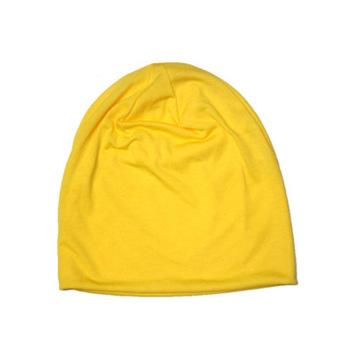 Fancyqube Candy Colored Man Korean Sleeve Head Cap Hip Hop Cap Yellow