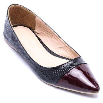 Giày búp bê nữ LADA UNIQUE HM0008 (Nâu)
